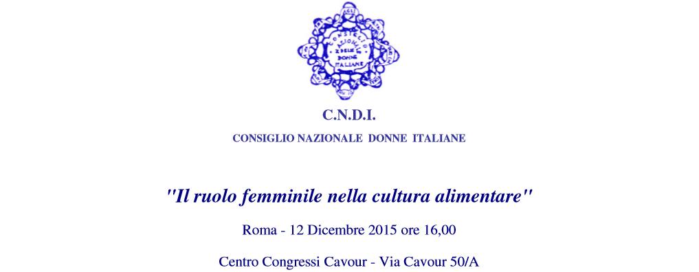 ruolo femminile cultura alimentare 2015