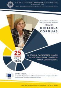 Invito Premio Gigliola Corduas